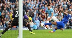 Man City slugging it out against Everton