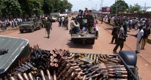 Armed fighters from the Seleka rebel alliance