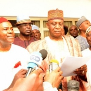 Baraje leading the nPDP members to APC