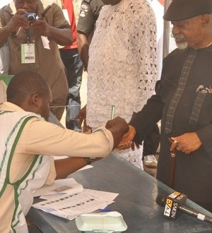 Ngige after casting his vote