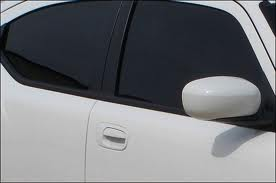 Car with tinted glass