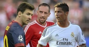 Messi,Ribery and Ronaldo