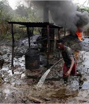 illegal oil refineries