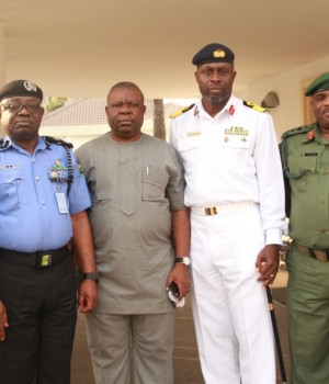 Lagos Security Council members after their meeting on Wednesday