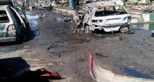 Scene of the Maiduguri bomb blast