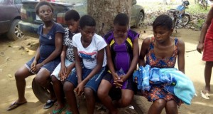 Some of the recovered teenage pregnant ladies from the baby factory