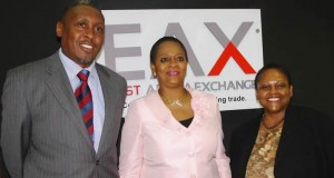 Paul Kukubo, CEO, East Africa Exchange; Arume Oteh, Director General Securities and Exchange Commission of Nigeria; and Jendayi Frazer, Africa Exchange Holdings