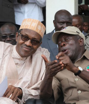 President Buhari with Adams Oshiomhole