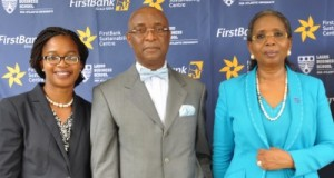 L-R: Centre Manager, FirstBank Sustainability Centre, Dr. Ijeoma Nwagwu; Director, FirstBank Sustainability Centre, Dr. Chris Ogbechie; CEO, The Chair Centre, Ibukun Awosika at the FirstBank Sustainability Workshop for Women-Led SMEs in Lagos recently.