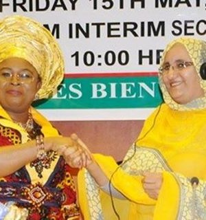 Dame Patience Jonathan, Friday, handed over her role as the President of the African First Ladies Peace Mission (AFLPM), her successor, Jadiya Hamdi Mohamed, first lady of Sahrawi Arab Democratic Republic in Abuja.
