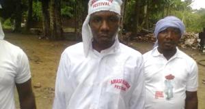 Tompolo in Olumba Olumba attire