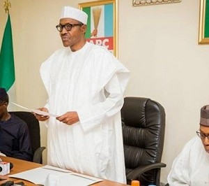 Vice President-elect, Prof. Yemi Osinbajo, President Muhammadu-Buhari and Chairman APC Transition Committee, Ahmed Joda