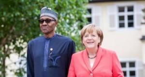 Buhari and German Chancellor, Angela Merkel