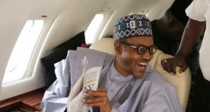 President Muhammadu Buhari aboard Presidential Jet