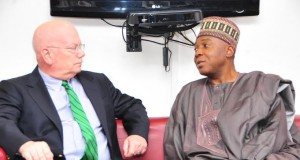 US Amb James F Entwistle Visits Dr. Bukola Saraki