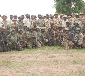 COAS Buratai with troops
