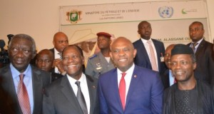 Elumelu and other African leaders at the conference