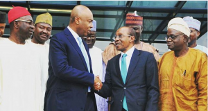 Senate President Bukola Saraki and CBN Governor, Godwin_Emifiele