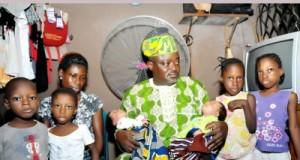 Lagos Speaker, Rt. Hon. Mudashiru Obasa during a visit to the mother of triplets