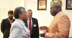 Lagos State Governor, Mr. Akinwunmi Ambode (right) with India High Commissioner to Nigeria, Mr. Ajjampur Rangaih Ghanashyam (left) during a courtesy visit to the Governor, at the Lagos House, Ikeja, on Friday