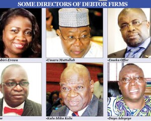 Bank debtors(pix courtesy of Punch)