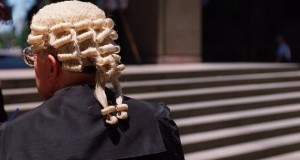 Lawyers' wig-and-gown
