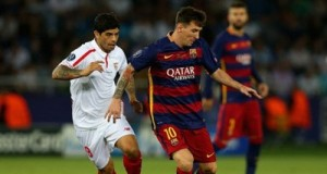 Barca's Messi against Sevilla