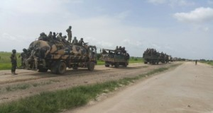 Nigerian troops on the move