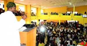 Governor Rauf Aregbesola addressing the Osun Stakeholders Conference