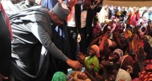 Saraki at one of the IDP camps