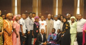 Governors Nasir El-Rufai of Kaduna State, Abdulaziz Yari of Zamfara State and Aminu Bello Masari of Katsina State,Tony Elumelu Foundation Chief Operating Officer, Abimbola Adebakin, with the Kaduna State based Tony Elumelu Entrepreneurs at a meet-up session hosted by His Excellency Governor El-Rufai as part of his focus on promoting entrepreneurship in the state.