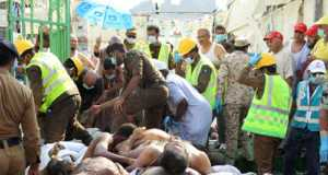 Bodies of Hajj Pilgrims who died in the stampede