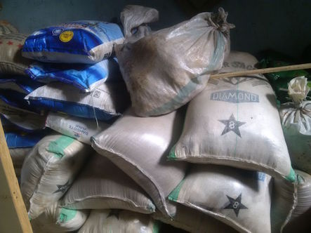 Seized goods from Boko Haram