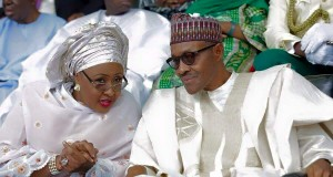 Buhari and wife, Aisha
