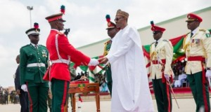 Buhari at NDA
