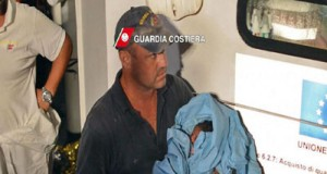 Coast Guard carrying the baby