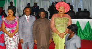 Wife of the Deputy Governor, Nnenna Igwe; Deputy Governor, Kelechi Igwe; Governor David Umahi of Ebonyi State, and his wife, Rachael Umahi; and the Co-ordinator, Afikpo North Development Centre, Mrs. Ugochukwu Okoh, a physically challenged that was appointed by the governor during the swearing of 64 coordinators of development centres in Abakaliki