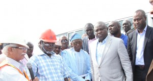 Governor Ambode during an inspection tour of Lekki Free Trade Zone