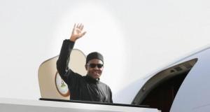 President Muhammadu Buhari on his way to Paris