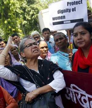 Protest against Saudi Diplomat in India