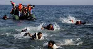 Survivors of migrant boat