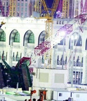 The giant crane that crashed in Makkah