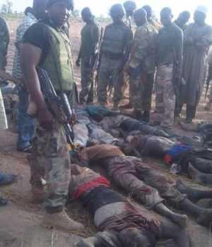 Killed Boko Haram fightersKilled Boko Haram fighters