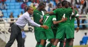 Coach Sunday Oliseh and his team, the Super Eagles