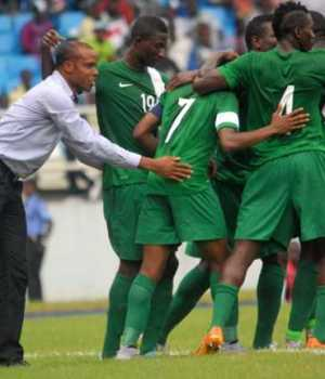 Coach Sunday Oliseh and his team, the Super Eagles