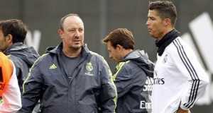 Cristiano Ronaldo and Rafael Benitez
