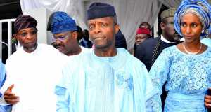 Vice President Yemi Osinbajo at the funeral Service of HID Awolowo