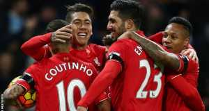 Liverpool celebrating thrashing of City