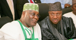 Atiku Abubakar and Governor Muhammad Bindow of Adamawa