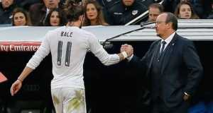 Gareth Bale and Coach Rafa Bernitez